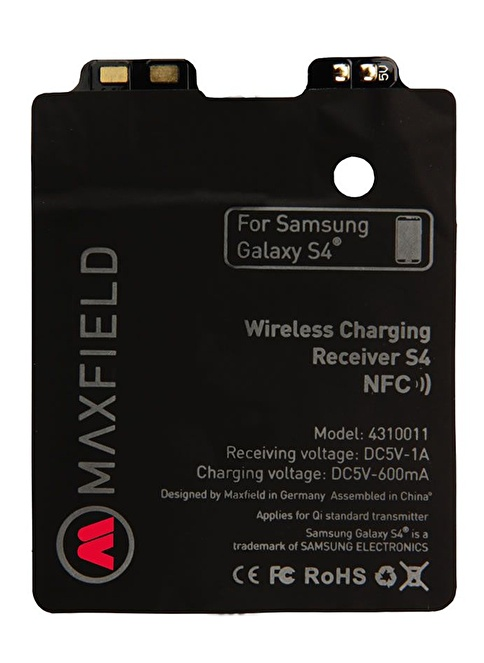 Maxfield QI Lisanslı Kablosuz Şarj Alıcısı Samsung Galaxy S4+Nfc Renkli